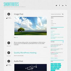 Shortnotes has been created with microblogging in mind and provides built-in pagination, a contact form, and is 100% implemented in HTML5 and CSS3. The theme also supports localizing into other languages! Shortnotes is a Premium Responsive Tumblog WordPress Theme.! This means that the theme is optimized for display on your favorite touchscreen mobile device without having to add any plugins or additional themes.