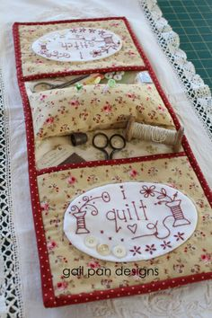 i stitch i quilt – Gail Pan Designs Sewing Caddy, Sewing Box, Sewing Notions, Sewing Kits, Small Sewing Projects, Sewing Hacks, Quilt Patterns, Sewing Patterns, Quilted Gifts