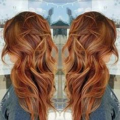Copper hair, red hair, long hair, fall hair color, beach waves, balayage #vistabellesalon