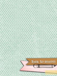 Back To School - Freebie In The Pocket Design