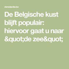 """De Belgische kust blijft populair: hiervoor gaat u naar """"de zee"""""""