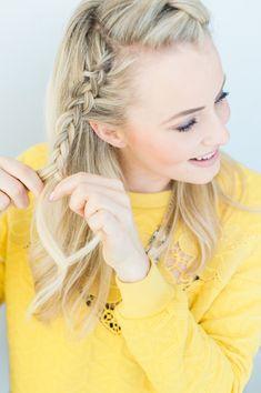The Braided Crown Hair Tutorial   theglitterguide.com