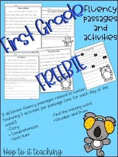 Comprehension Activities, Comprehension Questions, First Grade, Second Grade, 2nd Grade Reading Worksheets, Winter Theme, Teacher Pay Teachers, Lesson Plans, Teaching Resources