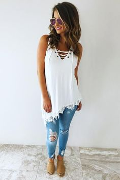 Love Me Now Top: Off White