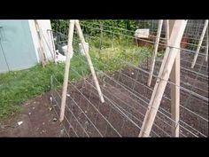 easy DIY cucumber/melon trellis