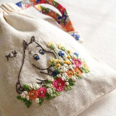 All things moomin. Cute Embroidery, Hand Embroidery Designs, Cross Stitch Embroidery, Embroidery Patterns, Handicraft, In This World, Needlework, Creations, Textiles