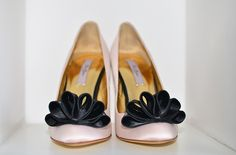 Ted BAker pink shoes with black bows