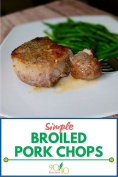 Simple Broiled Pork Chops with fennel seed. Simple is always good. Clean Dinners, Clean Eating Recipes For Dinner, Healthy Meals For Kids, Easy Meals, Pork Loin Chops, Pork Loun, Baked Pork, Real Food Recipes