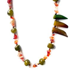 Long Asymmetrical Necklace/ Exotic Statement by ALFAdesigns, $44.99