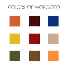 Love this Moroccan inspired color palette.