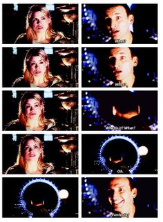 Lol this scene is one the many ways Rose is the best! Shattered Heart, Jack Harkness, Warehouse 13, Crazy Man, Christopher Eccleston, Geek Games, Comics Story, Laughing And Crying, Don't Blink