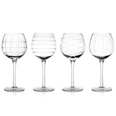 Set the mood for dinner with these Medallion 13 ounce Goblets from Better Drinkware. This set features four 13-ounce medallion, goblet shaped wine glasses.