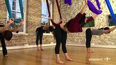 Aerial Hammock Conditioning - FULL Workout - Aerial Asana/Yoga - Lydia M...