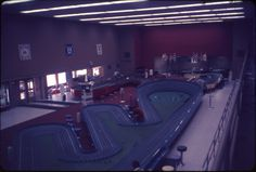 Interior of Modelcar Raceways. February 1966.