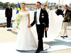 In the country's first royal wedding since 1976, Sweden's Crown Princess Victoria married her former personal trainer, Daniel Westling, on June 19 before 1,200 guests at Stockholm Cathedral – exactly 34 years to the day her father, King Carl XVI Gustaf, wed Queen Silvia.