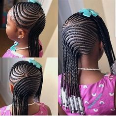 Braids for Kids – 50 Splendid Braid Styles for Girls – The Right Hairstyles . Braids for Kids – 50 Little Girl Braid Styles, Kid Braid Styles, Little Girl Braids, Black Girl Braids, Cornrow Styles For Girls, Kid Styles, Box Braids Hairstyles, Kids Braided Hairstyles, My Hairstyle