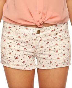 Ditsy Floral Denim Cutoffs... not sure if I could pull 'em off but they're cute