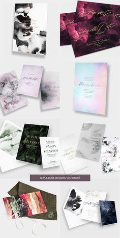 Chic Wedding Stationery from Bliss & Bone