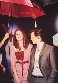Karen Gillan and Matt Smith