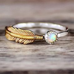 Mermaid Opal and Feather   Bohemian Jewelry   Indie and Harper