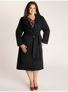 Hanna Coat in Black. IGIGI by Yuliya Raquel. www.igigi.com - Finally a coat that isn't bulky and looks to be somewhat form-fitting.