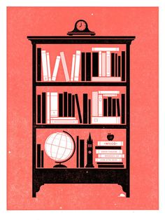 This is actually a Wilco concert poster, but I really just want a print of it to hang over my bookshelves...