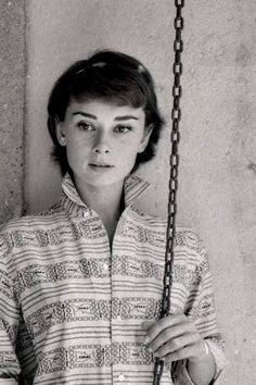Audrey Hepburn by Milton Greene, 1955
