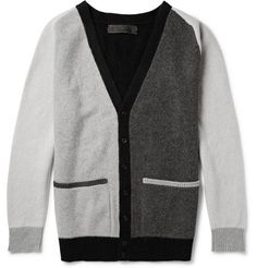 The Elder Statesman Colour-Block Wool and Cashmere-Blend Cardigan | MR PORTER