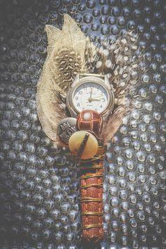Boutonnière Men's Vintage Unique Watch  Buttonhole CUSTOME by MeadowMenagerie