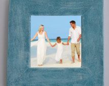 Distressed picture frame (shown in Island Blue)- 5x5