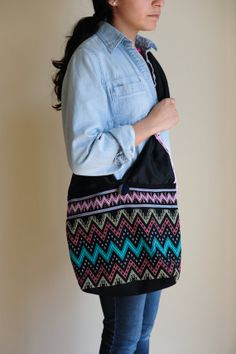 Sling Bag with Burmese Fabric. $32.45 USD. Made by our talented refugee artisans at We Made This. Get one at www.etsy.com/shop/wemadethisdenver