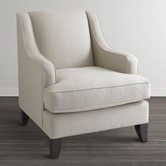 Accent Chair: I like the Heathered Linen Blend Fabric