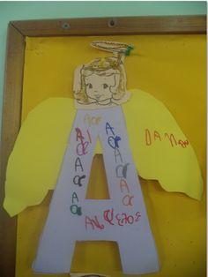...Το Νηπιαγωγείο μ' αρέσει πιο πολύ.: Ο φύλακας Άγγελός μας και το Α του Άγγελου.