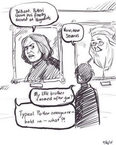 Severus Snape and James Sirius Potter conversation. Too funny!