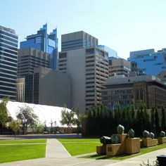 Partial Cityscape Photography Photos, Calgary, Multi Story Building, Board, Sign, Planks