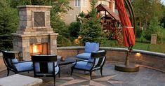 Backyard, Patio, Fireplaces, Outdoor Decor, Home Decor, Fireplace Set, Fire Places, Decoration Home, Terrace