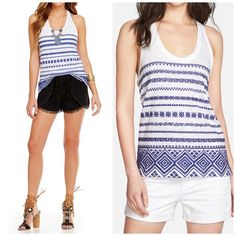 Sam Edelman Embroidered Racerback Tank From Sam Edelman, this tank features: embroidered design round neckline sleeveless pullover construction cotton/modal machine wash racer back Sam Edelman Tops Tank Tops