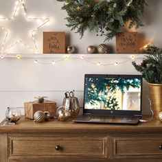 Festoon USB Micro Fairy Lights | Lights4fun.co.uk Outdoor Battery Lights, Outdoor Fairy Lights, Cosy Kitchen, Rustic Kitchen Decor, Christmas Candles, Christmas Lights, Christmas Decor, Entrance Table, Rose Gold Frame