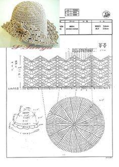 Caps, hats and panama: Knit crochet. Caps, hats and panama: Knit crochet ~ Bonnet Crochet, Crochet Cap, Crochet Beanie, Love Crochet, Irish Crochet, Diy Crochet, Crochet Crafts, Knitted Hats, Sombrero A Crochet