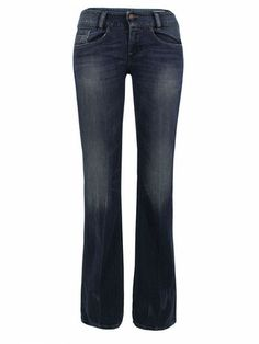 "DIESEL  Louvely Slim Bootcut Faded Denim Jeans  Diesel – Louvely, womens faded blue denim slim bootcut jeans with a low rise and zip fly. The five pocket bootcut jeans also feature distressed copper rivets, Diesel label coin pocket, distressed edges and a Diesel rear waistband patch.  Rise 7.5""  Leg opening 9.25""   £55"