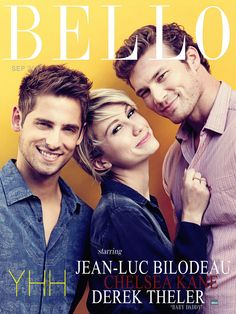 The cast of ABC Family's hit show, 'Baby Daddy' graces Bello's Young Hot Hollywood cover. Chelsea Kane, Derek Theler, and Jean-Luc Bilodeau.