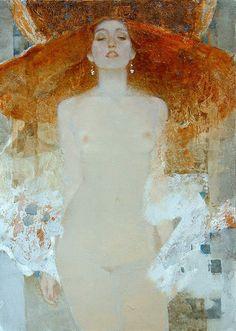 Kai Fine Art is an art website, shows painting and illustration works all over the world. Figure Painting, Figure Drawing, Art Klimt, Gustav Klimt, L'art Du Portrait, Pencil Portrait, Figurative Kunst, Art Original, Russian Art
