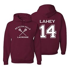 Amazon.com: Adult Teen Wolf Beacon Hills Lacrosse Lahey 14 Hoodie: Clothing