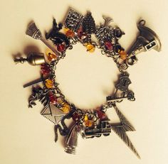 Harry potter beaded charm bracelet by JicsisJewellery on Etsy