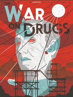 The War On Drugs gig poster by Tyler Hahn