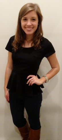 Black Peplum top - Studio 3:19