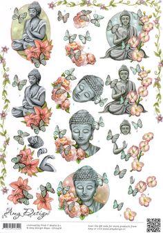 3 D Sticker Ausschneide Bogen   Budda CD 10476