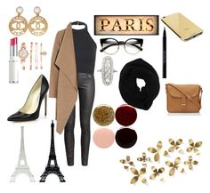 """Paris Walk #2"" by florescent12fashion ❤ liked on Polyvore featuring Merci Gustave!, Chanel, Brian Atwood, H&M, Harris Wharf London, Lancôme, Anne Klein, Goldgenie, Wyatt and Urban Decay"