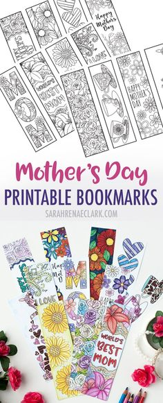 Mother's Day Coloring Bookmarks Color and make these Mother's Day bookmarks for a special mom! Includes 12 printable bookmarks to color in Mothers Day Decor, Mothers Day Crafts For Kids, Mothers Day Cards, Mother Day Gifts, Fathers Day, Mothers Day Ideas, Mothers Day Book, Diy Mother's Day Crafts, Mother's Day Diy