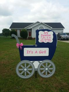 Fayetteville NC Birth Announcement Lawn Sign ~ Baby Carriage Sign - call Sandhills Baby & Birthday Signs at to reserve a beautiful birth announcement sign! Birthday Signs, Baby Birthday, Welcome New Baby, Birth Announcement Sign, Lawn Sign, Holly Springs, Baby Box, Baby Arrival, Baby Carriage